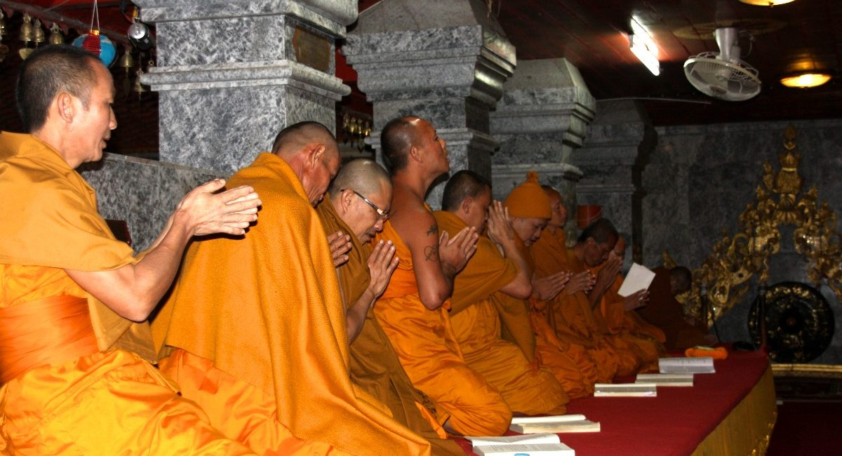 monks chanting Chiangmai