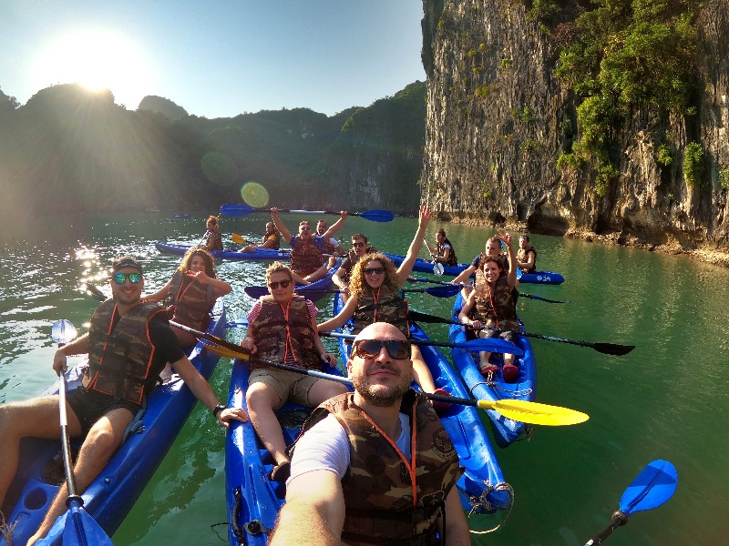 Halong Bay canoying