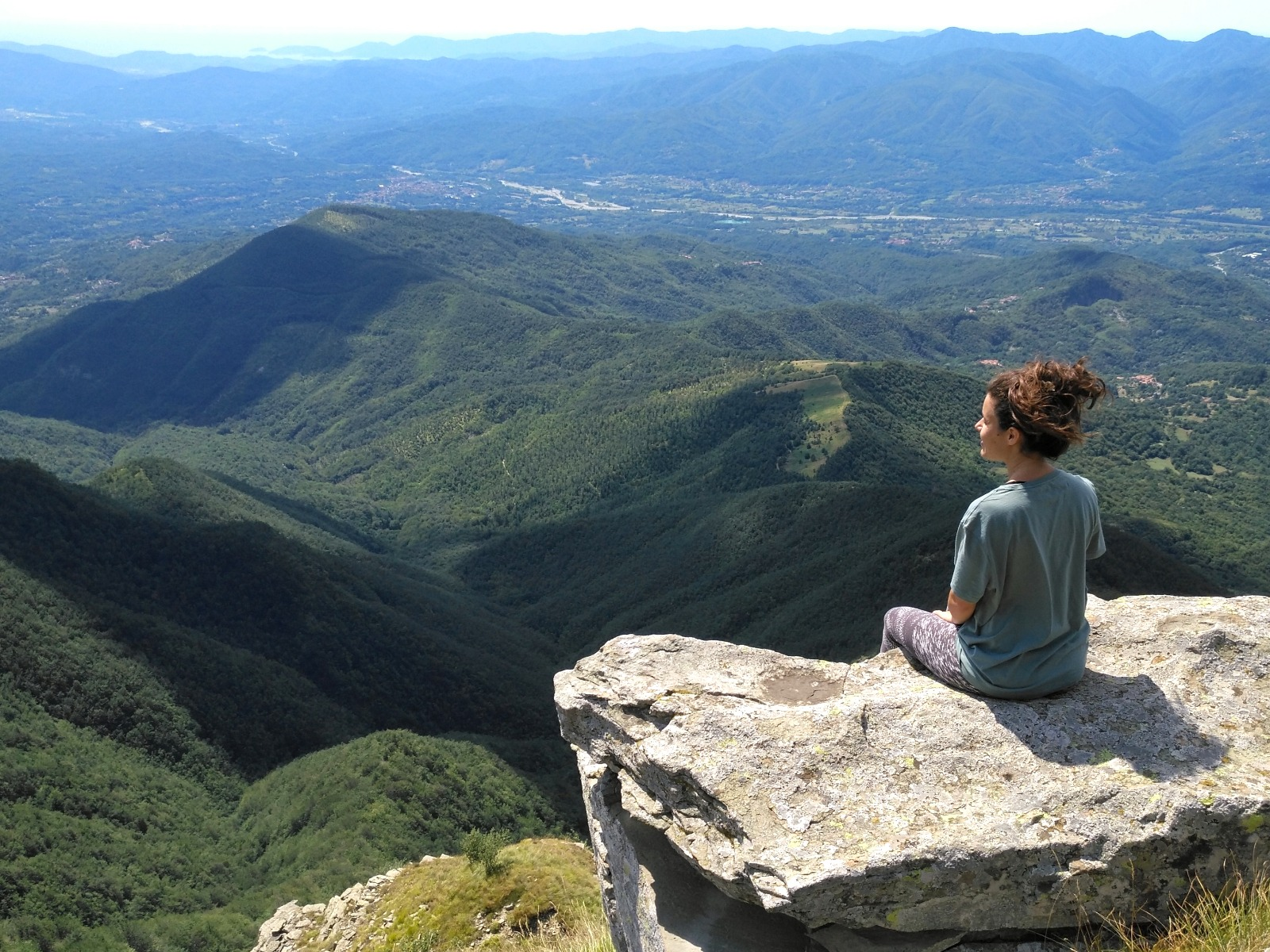 view from the Apennines Tuscany